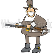 Cartoon Hunting Pilgrim Wearing a Mask © djart #1727748