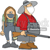 Cartoon Rednecks Wearing Masks © djart #1727753