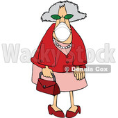 Cartoon Senior Woman Wearing a Mask © djart #1727754