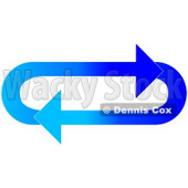 Clipart Illustration of an Oval Of Gradient Dark And Light Blue Arrows Moving In A Clockwise Motion © djart #28809