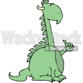 Mythical Dragon Holding Thumb Up Clipart © djart #4598