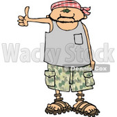 Scary Looking Man Hitchhiking Clipart © djart #5131