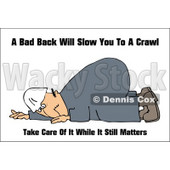 Royalty-Free (RF) Clipart Illustration of a Hurt Worker Man Down On The Ground © djart #59720