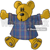 Teddy Bear Stuffed Animal in a T Shirt Clipart Picture © djart #6148