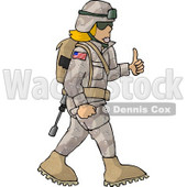 Army Woman Giving Thumbs-up - Royalty-free Clipart Picture © djart #6279